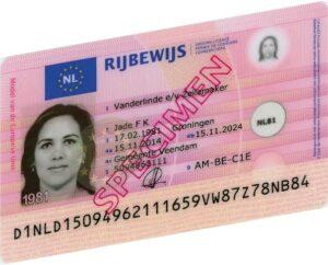 Voorbeeld Rijbewijs 2014 Voorzijde2